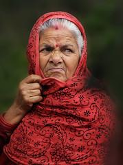 "old sad woman (Ivo De Decker "" finally back "") Tags: travel nepal portrait sad oldwoman pokhara hindi nepali nepaliwoman tibetanrefugeecamp tashipalkhiel"