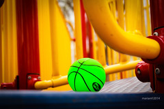 A Ball by the Slide (RiAnRaVeN) Tags: green playground ball play round