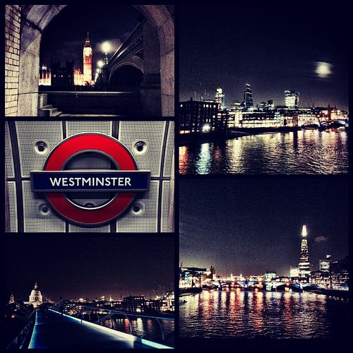 A night walk by river Thames #london