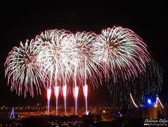 Malta --- Zurrieq --- Fireworks (Drinu C) Tags: longexposure shells night feast fire colours fireworks sony malta dsc mtcarmel zurrieq hx100v adrianciliaphotography