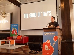 Listening to my mancrush @PhilHawksworth speaking at @SmashingConf.