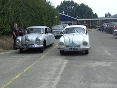 1948 Tatra T87 and 1948 Tatra T600 'Tatraplan' (Davydutchy) Tags: classic netherlands car rally nederland september 600 register annual noordoostpolder polder 87 treffen nop emmeloord tatra t87 2014 jahrestreffen trn t600 tatraplan herbsttreffen najaarsmeeting