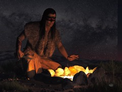 Night Warrior (deskridge) Tags: night desert indian nativeamerican campfire warrior brave hunter americanindian sioux geronimo americansouthwest indianwarrior comanche eskridge plainsindian indianbrave nativeamericanwarrior nightwarrior danieleskridge