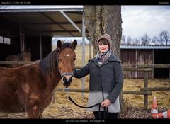 my love and her young horse Joschi (netozeme) Tags: carlzeissjena carlzeiss czj zeiss spring horse fur brown star swabian alb