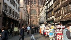 Massive Cathedral (rrodriguez16) Tags: rarb1950 rue merciere catedral cathedral empedrado cobbles calle street estrasburgo strasbourg alsacia alsace francia france
