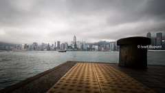 The bay, Hong Kong, SAR of China (monsieur I) Tags: asia abroad asian city cityscape clouds cloudy faraway hongkong hongkongbay hongkongisland monsieuri panorama skyscrapers travel traveler water world laowa12mmf28zerod wideangle nodistorsion laowa