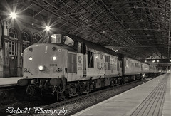20170325-IMG_6198-Edit (deltic21) Tags: class37 preston lancashire night monochrome bw tractor colas testtrain networkrail tractors