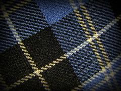 Clark Clan Tartan (clarkcg photography) Tags: clothtextile macromondays blue white black tartan clan colors fly weave cotton stitch lines squares diagonal