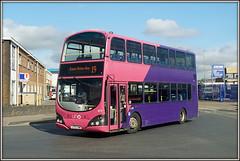You-no see any passengers on UNO 277 (Jason 87030) Tags: uno university northampton northants northamptonshire stjamesmillroad harveyreevesroad pink purple bus wright gemini eclipse 277 lf52znw ryancresswell