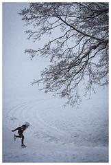 LIttle skater in the fog (JP Korpi-Vartiainen) Tags: february finland kallavesi kuopio pohjoissavo archipelago arctic arktinen fog helmikuu ice icy jäinen järvi jää lake landscape maisema misty saaristo sumu talvi talvinen usva winter wintry 358