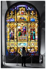 Crazy window. (sdupimages) Tags: lelouvre musée museum nb bw noirblanc blackwhite stainedglass partial paris vitrail crazywindow 7dwf