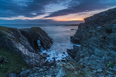 'Twilight In A Quiet Corner' - Anglesey (Kristofer Williams) Tags: landscape seascape anglesey coast beach cliff rock arch geology twilight bluehour wales cloud