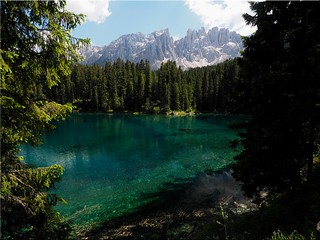 The Karersee in South Tyrol