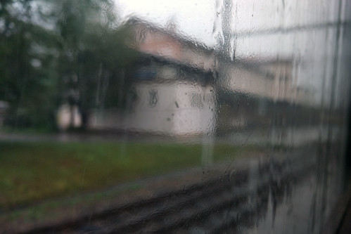 On the road in rainy day...
