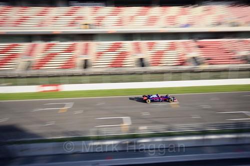 Carlos Sainz Jr in his Toro Rosso in Formula One Winter Testing 2017