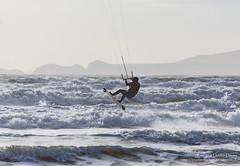 Kitesurfing at Newgale, Pembrokeshire (Kenvyn Davies) Tags: action activity beach canoneos5d coast cymru kitesurfing newgale northpembrokeshire ocean outdoors pembrokeshire sea seashore seaside solitary sport sports unitedkingdom wales walescymru water watersports westwales cymruwales