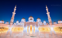 _MG_9157_web - Sheikh Zayed Mosque skyline (AlexDROP) Tags: select2017 abudhabi uae emirates bluehour lights travel architecture tower color city wideangle mosque urban nighttime scape circpl canon6d ef16354lis historicalplace best iconic famous mustsee picturesque postcard hdr