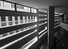 Modern concepts of black and white (matteoleoni1) Tags: granada university universidad spain españa andlaucia blackandwhite arquitectura architecture glass modern building interior