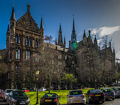 University of Glasgow (Brian Travelling) Tags: university glasgow glasgowuniversity architecture architectural bluesky pentaxkr pentax pentaxdal educational buildings building listedbuilding scotland scenic urban historic historicscotland