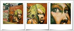 Lerart at VUB (@necDOT) Tags: slr680 polaroid color600 impossibleproject graffiti montage triptyque streetart vub brussels