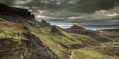 Quiraing Dawn (Pureo) Tags: quiraing skye scotland scottishlandscapes trottenishridge landscape light clouds hills dawn mood canon 6d leefilters