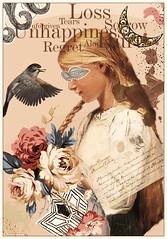 Unforgiven (Swissrock-II) Tags: digitalmania digitalart digital photoshop photoart photomanipulation photoshopart eduardorecife tribute albertanker girl bird flower deviantart april 2017