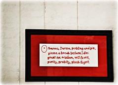 O Karma, Dharma ...  (343/365) (blamstur) Tags: red white black poem sampler embroidery framed 365 6214 project365 philipappleman okarmadharma