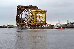 Castoro XI..... Tyne 130614 (silvermop) Tags: sea port river boat ship ships tyne tugs magnus barge tugboats svitzertowing