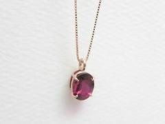 フューシャピンクの誕生石   Rubellite pendant (jewelrycraft.kokura) Tags: rubellite ペンダント k18 ピンクゴールド 誕生石 トルマリン ルベライト
