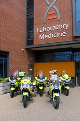 Official launch of WhiteKnights in South Yorkshire. (Mike-Lee) Tags: charity sheffield bikes bbc southyorkshire ngh cheque whiteknights officiallaunch bloodbikes june2014 httpwhiteknightsorguk