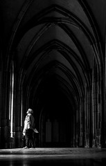 Silence in the city (srvanveen) Tags: light people man church netherlands delete2 blackwhite utrecht arch dom save3 delete3 save7 delete delete4 save save2 monastery save4 silence save5 save6 domkerk domplein savedbythedeletemeuncensoredgroup