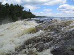Curtain Falls (briandjan607) Tags: lake water river waterfall high iron flood curtain falls waters boundary crooked boundarywaters torrent flooded bwca boundarywaterscanoearea curtainfalls