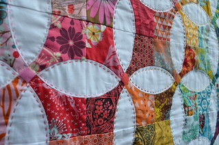 Flowering Snowball Mini: Quilting