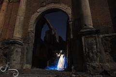 Belchite 07 (Uruvyel) Tags: old blue light sky lightpainting church azul night painting photography bride noche town photo nikon foto fear ghost pueblo iglesia scene leon ruinas cielo estrellas nocturna viejo fantas