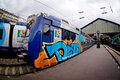 MON TRAIN MA GARE... (nARCOTO) Tags: train graffiti graff graffitis