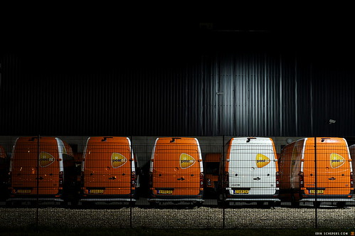 PostNL vans waiting