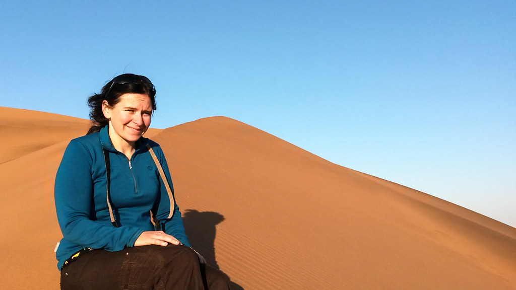 Danielle on Big Daddy Dune, sossuvlei, Namibia
