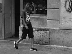 Kiev 4 + Jupiter-11 135/4 - Boy on Cejl Street (Kojotisko) Tags: street city people bw streets film person czech streetphotography brno cc creativecommons czechrepublic streetphoto persons kiev4 jupiter11 agfaphotoapxpan100 agfaphotoapx jupiter111354 agfaphotoapxpan
