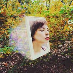 a portrait before she vanishes (Richard John Pozon) Tags: portrait photography escape surrealism surreal an frame series conceptual ideas though