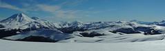 Panorama Cordillera Las Races + Video (Mono Andes) Tags: chile panorama ski nieve andes invierno skitour esqu volcn randonn chilecentral regindelaaraucana volcnlonquimay cordilleralasraces
