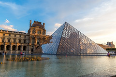 20140623paris-393 (olvwu | ) Tags: city longexposure light sunset sky cloud paris france reflection museum night landscape dusk  musedulouvre louvremuseum    jungpangwu oliverwu oliverjpwu olvwu   jungpang
