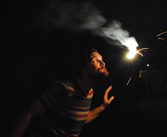 (Hurley Winkler) Tags: blue red white beach alex america becca florida fireworks 4th july patriotic sparklers american jacksonville jax celebrate curtis
