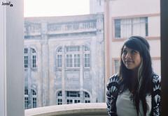 Isabelle Imay; (Janis F.) Tags: analog 35mm model balcony curitiba 35mmfilm analogue yashica analogphotography yashicafx3 braziliangirl brazilianmodel 35mmcamera yashicafx3super2000 analoguephotography yashicacamera kodakcolorplus200 imay janisf isabelleimay isaimay