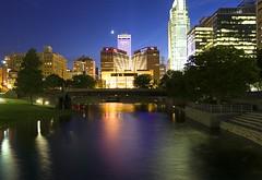 Omaha at Night (cmurphy13) Tags: sky skyline night nebraska long exposure downtown line omaha