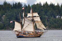 2014-07-19 Hawaiian Chieftain & Lady Washington (01) (1024x680) (-jon) Tags: sailboat boat sailing ship vessel pugetsound tallship sanjuanislands anacortes washingtonstate fullsail skagitcounty ladywashington sailingvessel capsante fidalgoisland hawaiianchieftain fidalgobay a266122photographyproduction