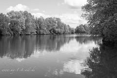 The Lake from Weisendorf (my14all) Tags: landscape blackwhite schwarzweis dorfweiher wolkenlandschaft