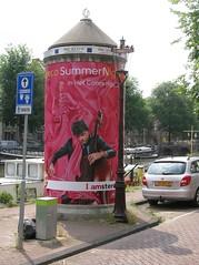Amsterdam July 2014 (streamer020nl) Tags: summer poster nights plakat oude schans robeco affiche pepperpot concertgebouw pfefferstreuer peperbus reclamezuil