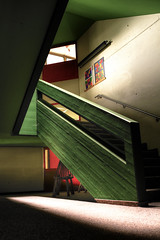 a bunch of obtuse angles ... (David Kracht) Tags: school light david building art geometric architecture dave stairs dark construction empty angles math lonely staircases hdr obtuse multiexposure stairways kracht tonecompression license:no=no