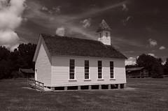 Miles Wilson Matthews Chapel (davidwilliamreed) Tags: old white church blackwhite