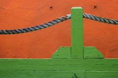 Untitled (reinfected) Tags: wood orange green rope minimal minimalism minimalist mnml